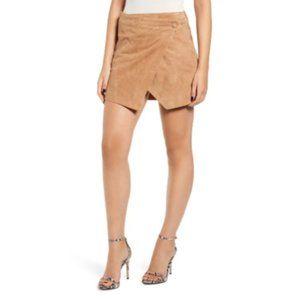 Blank NYC Suede Asymmetrical Mini Wrap Skirt Sz 25